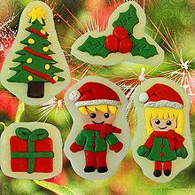Dekorácie - Magnetky Vianočná idylka (NA ZÁKAZKU) - 4369307_