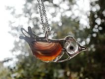 Vtáčik -achát-prívesok tiffany