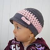 Detské čiapky - Elegantná šiltovka - 4372138_