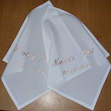 Iné doplnky - svadobné podbradníky-vyšívané - 4374559_