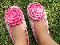 - Béžové baleríny s Kvetom  - 4375799_