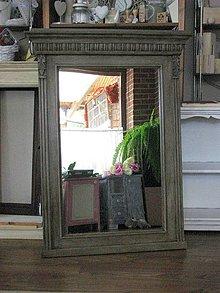 Zrkadlá - Starožitné drevené zrkadlo - predané - 4378396_