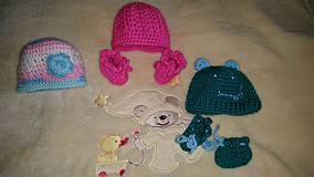 Detské čiapky - pre predčasne narodené deti - 4376640_