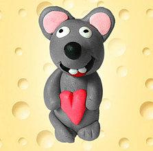 Hračky - Myš s dobrým srdcom - 4377069_