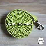 Háčkované 100% bavlnené fresh vodítko pre mačku, šteniatko alebo menšieho psa, 125 cm