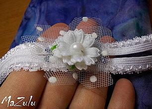 Bielizeň/Plavky - Svadobný  podväzok s kvetom - 4383253_