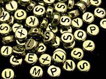 Extra veľký balíček zlatých písmenok (balíček 1000ks)