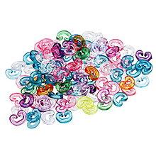 Galantéria - Koncovky C na gumičkové náramky (balíček 20ks) - 4380423_