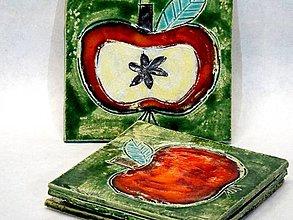 Dekorácie - Jabĺčkové podložky - 4382782_