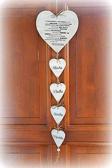 Tabuľky - Srdce s citátom s menami - 4382424_