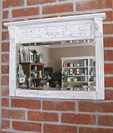 Zrkadlá - Drevené vyrezávané zrkadlo predané - 4379312_