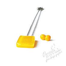 Sady šperkov - Mini Sety: Žltá - 4380153_