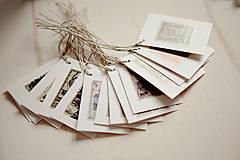 Papier - Visačky 15ks - poštová známka - 4387004_