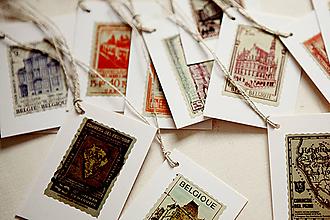 Papiernictvo - Visačky - poštová známka VÝPREDAJ! - 4387006_