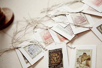 Papiernictvo - Visačky - poštová známka VÝPREDAJ! - 4387008_