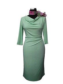 Šaty - jabĺčkovo zelená - 4384378_
