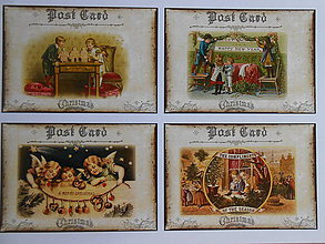 Papier - Vyrob si sama-vianočné pohľadnice/A - 4384870_