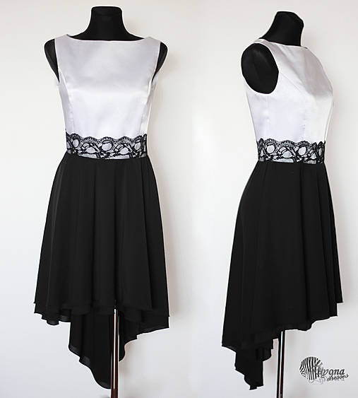 Spoločenské šaty so sukňou high- low   Dyona - SAShE.sk - Handmade Šaty f0affa7655f