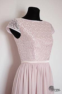 Šaty - Spoločenské šaty s krajkovým vrškom a rukávikom - 4386363_