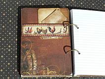 Papiernictvo - Luxusný receptár na chalupu ♥ č 1 - 4386113_