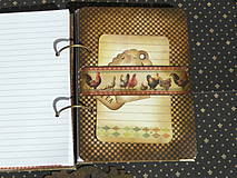 Papiernictvo - Luxusný receptár na chalupu ♥ č 1 - 4386118_