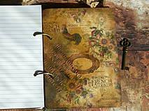 Papiernictvo - Luxusný receptár na chalupu ♥ č 1 - 4386138_