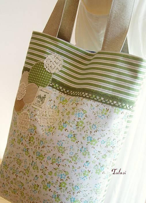 81822f21aa AKCIA-French Tote Bag 26.   Tulasi - SAShE.sk - Handmade Veľké tašky