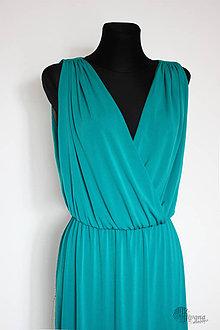 Šaty - Šaty z hladkého úpletu v gréckom štýle rôzne farby - 4390072_