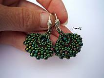 Náušnice - Taštička Emerald mini - 4389681_