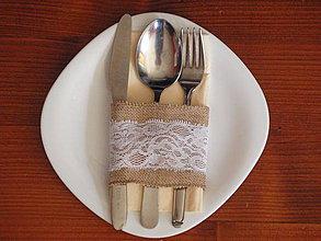 Úžitkový textil - Vintage držiak na príbor - 4388456_