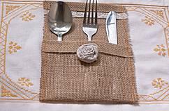 Úžitkový textil - vrecko na príbor - 4389214_