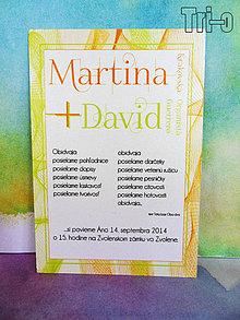 Papiernictvo - Martina&David VI. - 4392389_