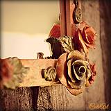 Materiál ručne robený - Vintage Roses (sada 10 ks) - 4392305_