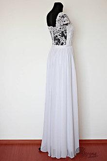 Šaty - Svadobné šaty s priesvitným krajkovým chrbátom - 4392794_