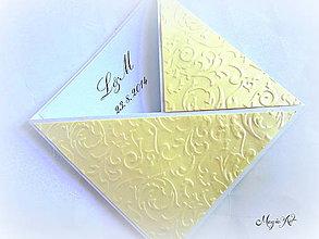 Papiernictvo - Ďakovné kartičky pre svadobných hostí