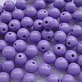 Korálky - COLOR plast 8mm-10ks - 4396156_