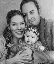 Kresby - portrét na objednávku: Nádherná rodinka BARBORKY STRAKOVEJ - 4395236_