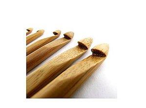 Galantéria - Sada 12tich bambusových háčikov - 4394408_