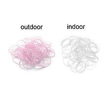 Galantéria - UV ružové farbu meniace gumičky na gumičkové náramky - balíček 300ks - 4394747_