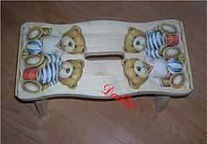Nábytok - Drevený šamlík medvedíky na pláži - 4393464_