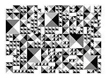 Obrazy - VÝPREDAJ/Geometrický abstrakt - hra tieňov - 4396386_
