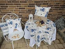 Úžitkový textil - Ľanový obrus Brise de Mer - 4395297_