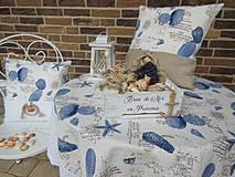 Úžitkový textil - Ľanový obrus Brise de Mer - 4395303_