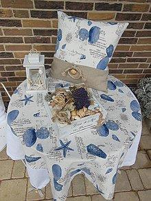 Úžitkový textil - Ľanový obrus Brise de Mer - 4395310_