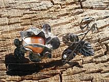 Náhrdelníky - Ruža -achát-prívesok tiffany - 4398139_