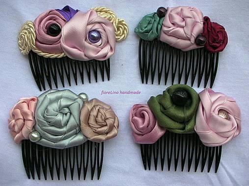 hrebienok do vlasov s kvetmi
