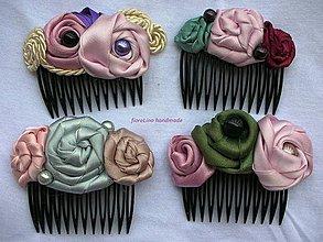 Ozdoby do vlasov - hrebienok do vlasov s kvetmi - 4397953_
