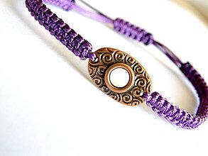 Náramky - violette celtic bubble shamballa - 4397722_