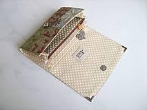 Peňaženky - Motýlí tanečky a ptačí snění -15 X 10,5 :-) - 4399982_