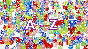 Písmenká farebné kocky na výber A-Z (balíček 50ks)